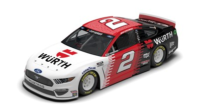 Team Penske's No. 2 Würth USA/UTI Class of 2020 Ford Mustang, driven by 2012 Champion Keselowski, will feature a one-of-a-kind paint scheme with the names of Universal Technical Institute's recent graduates in the July 19 race at Texas Motor Speedway.
