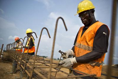 Workers on Centre Hospital Universitere Campus, Lambarene, Gabon