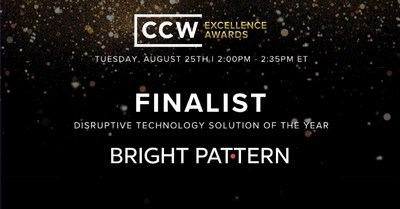 Bright Pattern Selected as Finalist for 'Disruptive Technology Solution of the Year'