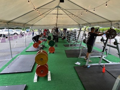 OVOX - A NJ Based Gym becomes 1st to legally reopen in outdoor tented COVID-19 compliant space