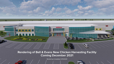 Photo rendering of Bell & Evans New Chicken Harvesting Facility