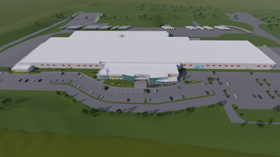 Aerial Rendering of Bell & Evans New Chicken Harvesting Facility