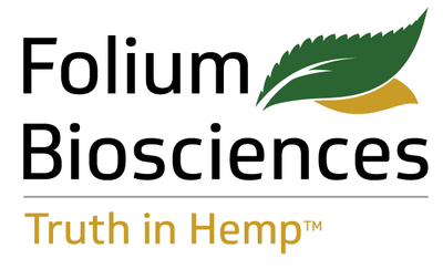 Folium Biosciences has been certified by the CDPHE (Colorado Department of Public Health and Environment) as a producer of 0.0% THC products and has been issued Free Sale Certification. Their chromatographic purification process has been able to selectively remove the only psychoactive component, Delta 9-THC, from the phytocannabinoid-rich hemp oil.The absence of detectable THC is confirmed through High Performance Liquid Chromatography (HPLC) tests. (PRNewsfoto/Folium Biosciences)