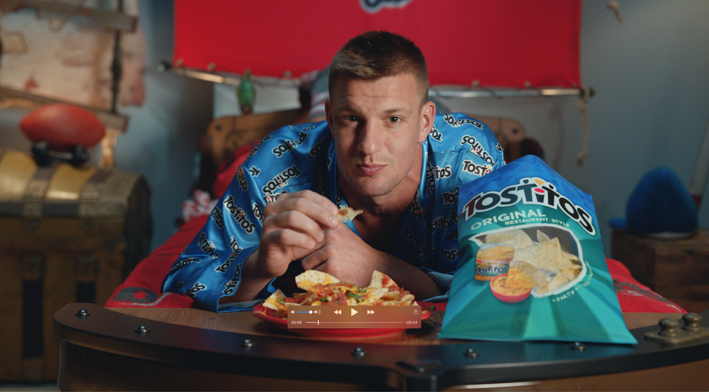 Frito-Lay's new commercial features NFL pros and legends, including Tom Brady and Rob Gronkowski – both starring in their first commercial in a Tampa Bay uniform