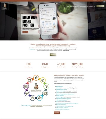 Incite Creative New Website Home Page