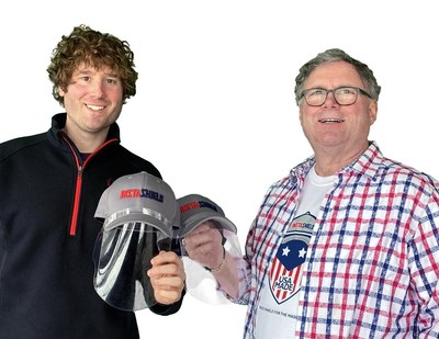 InstaShield CEO Dan Brown, Jr. and his father, Dan Brown, Sr., created InstaShield in March after identifying America's need for an effective, low-cost face shield that could be quickly manufactured in the U.S. to help families, businesses and frontline workers.