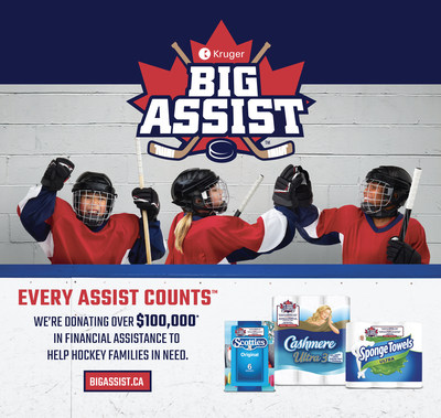 Canadian minor hockey fans invited to nominate their favourite minor hockey association for #KrugerBigAssist from Kruger Products at BigAssist.ca (CNW Group/Kruger Products L.P.)