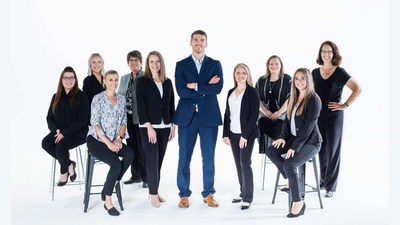 The Advanced Family Eye Care team. Pictured left to right: Connie Fernandes, Paige Graham, Megan Schau, Sherrie McLaren, Dr. Carrie Menet, Dr. Brad Boyle, Dr. Carrie Kearns, Elissa Dodge, Andrea Schmit, Kathy Venem
