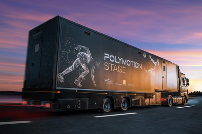 Polymotion Stage Truck the world's first 3-in-1 mobile volumetric studio on wheels (PRNewsfoto/Mark Roberts Motion Control)