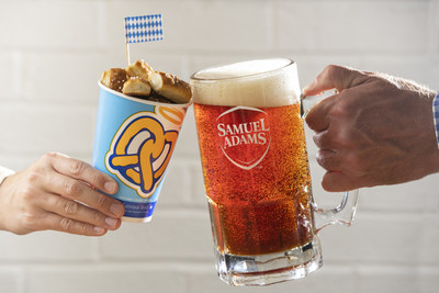 Samuel Adams and Auntie Anne's bring the taste of Oktoberfest home with the ultimate prost package featuring celebration staples: beer and pretzels