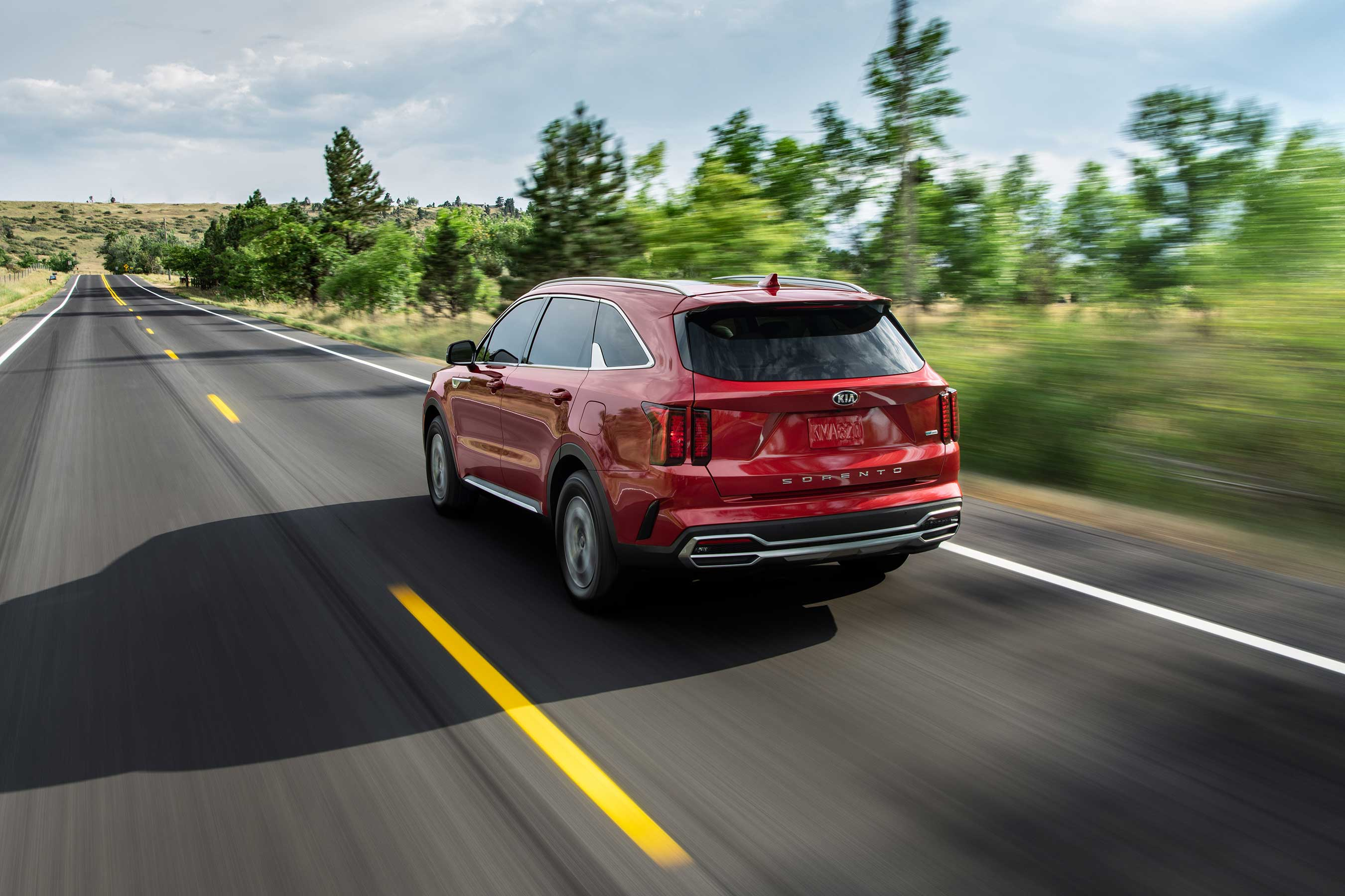 The all-new 2021 Kia Sorento features a segment exclusive turbo hybrid engine that delivers 227-horsepower and an estimated 37 MPG combined.