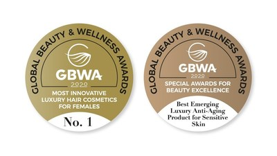The official Global Beauty & Wellness Awards label for winners and finalists (PRNewsfoto/Global Beauty & Wellness Awards)