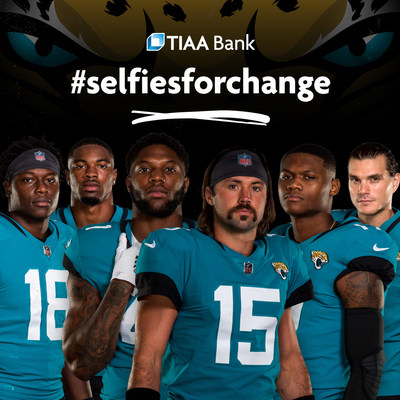 This season, fans of the NFL's Jacksonville Jaguars can unlock a donation to tackle social injustice through #SelfiesforChange.