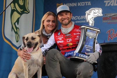 Brandon Palaniuk, of Rathdrum, Idaho, has won the 2020 Bassmaster Elite at Santee Cooper Lakes brought to you by the United States Marine Corps with a four-day total of 72 pounds, 2 ounces.