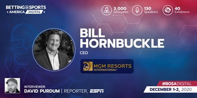 MGM CEO Hornbuckle to keynote day 2 at Betting on Sports America - Digital (PRNewsfoto/SBC - Sports Betting Community)