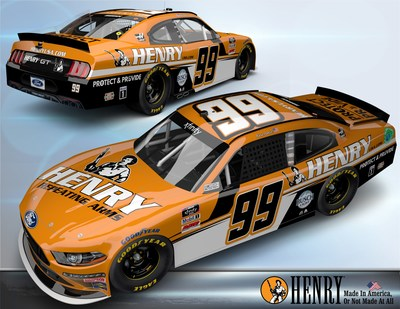 American rifle and shotgun manufacturer, Henry Repeating Arms, is sponsoring Kevin Harvick in the No. 99 B.J. McLeod Motorsports Ford Mustang for the Henry 180 NASCAR Xfinity Series road course race on July 3.