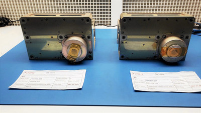 Two recently built Maxwell Block 1 engine flight units being prepared for customer delivery
