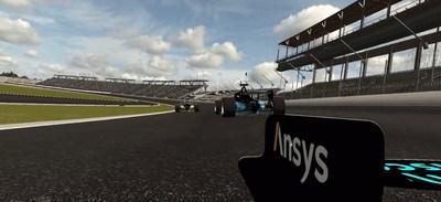 Autonomous racecars compete in the Ansys Indy Autonomous Challenge Simulation Race