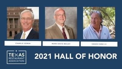 2021 Texas Restaurant Association Hall of Honor Inductees