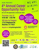 See who's hiring, find your opportunity at the City of Houston & SERJobs Career Fair 9 a.m. to 3 p.m. on Thursday, July 15. Polish your resume, practice your interview skills, and be prepared to meet representatives from more than 30 organizations looking to hire now!