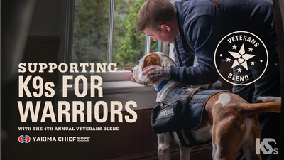 Yakima Chief Hops has partnered with K9s For Warriors for their 4th Annual Veterans Blend to help brewers create beers in celebration and support of US military Veterans.