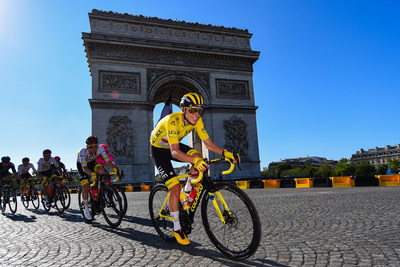 Tadej Pogačar rides to victory in the 2021 Tour de France on a special edition Colnago bicycle that is now for sale to cyclists all over the world.