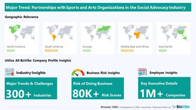 Snapshot of key trend impacting BizVibe's social advocacy organizations industry group.