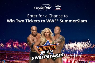 Credit One Bank, proud partner of WWE®, is offering fans the chance to attend SummerSlam at Allegiant Stadium in Las Vegas on Saturday, August 21 through their SummerSlam Sweepstakes.