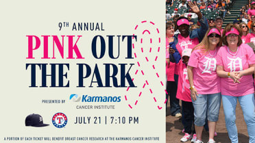 The Barbara Ann Karmanos Cancer Institute, in partnership with the Detroit Tigers will continue the tradition of raising awareness for breast health at the annual Pink Out the Park game on Wednesday, July 21, when the Tigers face the Texas Rangers at Comerica Park at 7:10 p.m.