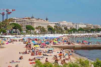 The French Riviera in Cannes, France. Image courtesy of 4KUniverse, Inc.
