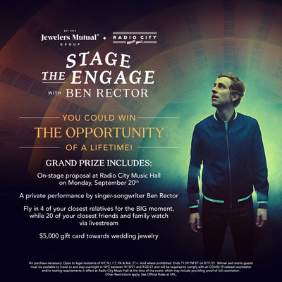 Ben Rector Stage the Engage Contest by Jewelers Mutual Group