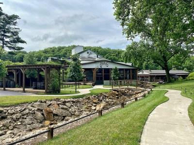 The historic Holladay Distillery in Weston, Missouri.
