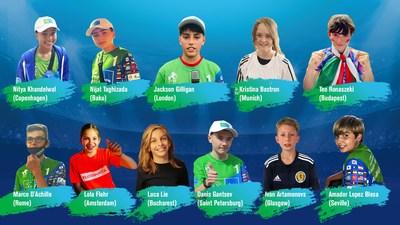11 winners young journalists of F4F Euro 2020 News Bureau (PRNewsfoto/Gazprom International Children's Social Programme Football for Friendship)