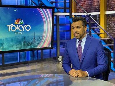 NBC Olympic Broadcaster Ahmed Fareed wearing custom INDOCHINO (CNW Group/Indochino Apparel Inc.)