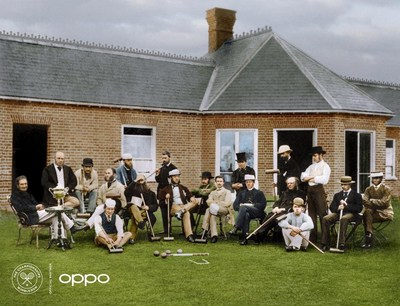 The All England Croquet Club members outside the Wimbledon pavilion in 1870. In 1877, after the first tennis tournament, the club changed its name to The All England Croquet and Lawn Tennis Club
