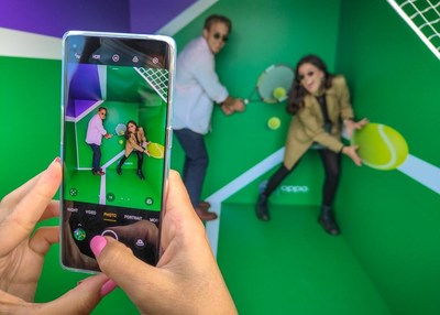 OPPO created 'Wall of Heart' refurbished walls-to-court designed to unite communities and inspire the next generation of tennis players and fans.