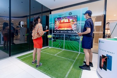 OPPO enabled budding tennis players and gamers to play virtual tennis in stores all over the world, including the UK, Paris, Spain, Poland, Indonesia, Singapore, Thailand, China and more.