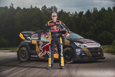 Hansen Motorsport Team Driver, Kevin Hansen and his Peugeot 208 WRX