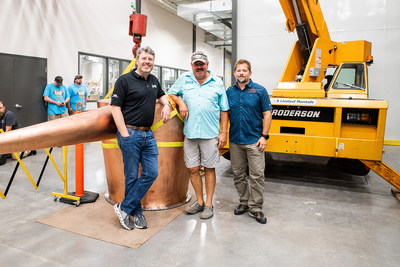 from left to right: Ned Vickers (President, Owner and Founder), Kent Woods (Owner), Greg Eidam (Master Distiller)