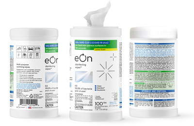 eOn Disinfecting Wipes(TM) visit eOnWipes.com or email sales@eonwipes.com