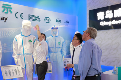 """Qingdao Weida Biotech is showing the """"One-piece Medical Disposable Protective Clothing"""""""