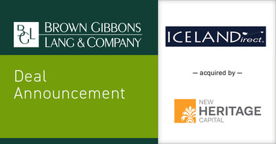 Brown Gibbons Lang & Company (BGL), a leading independent investment bank and financial advisory firm, is pleased to announce the sale of Icelandirect to New Heritage Capital. BGL's Food & Beverage investment banking team served as the exclusive financial advisor to Icelandirect in the transaction. The transaction furthers BGL's expertise within food ingredients and the nutraceuticals sub-sector. The specific terms of the transaction were not disclosed.